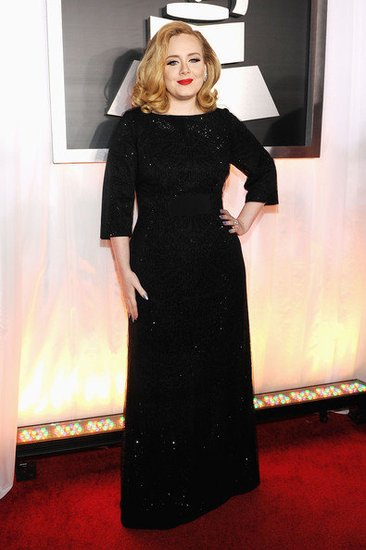 Adele at this year's Grammys