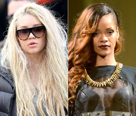 Amanda Bynes and Rihanna