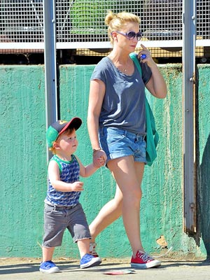Amy Poehler and her son