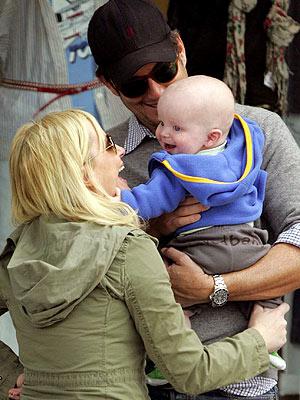 Amy Poehler, Will Arnett and Archie Arnett