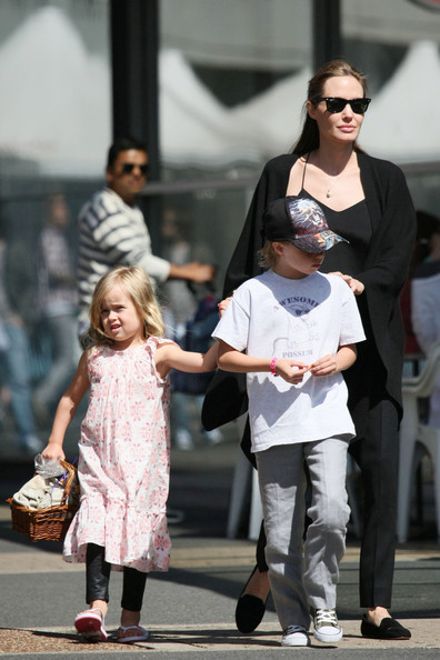 Angelina Jolie and her kids in Sydney