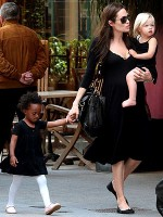 Angelina Jolie and daughters