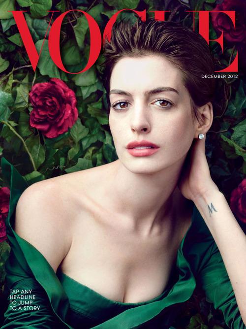 Anne Hathaway on 'Vogue'