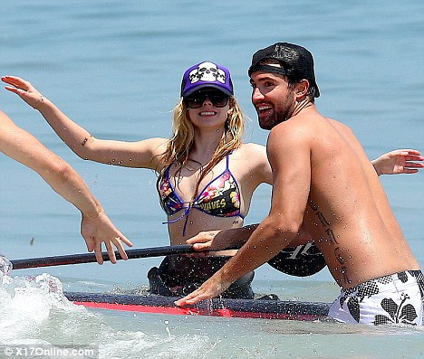 Avril Lavigne and Brody Jenner in Malibu yesterday