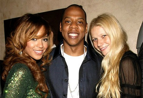 Beyonce and Jay-Z with Gwyneth Paltrow