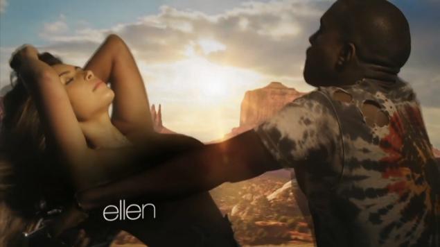 Kim Kardashian and Kanye West in