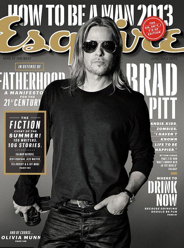 Brad Pitt on 'Esquire'