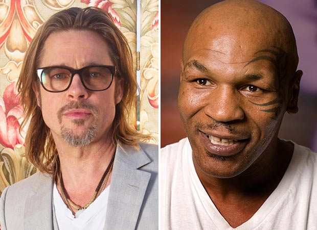 Brad Pitt and Mike Tyson