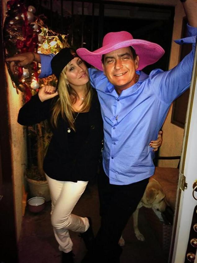 Brett Rossi and Charlie Sheen