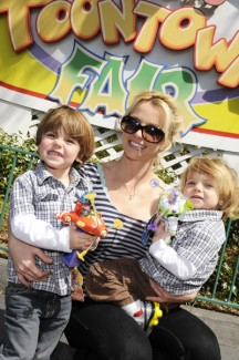 Britney Spears and kids at Disneyland