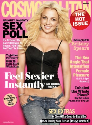 Britney Spears on the cover of Cosmo