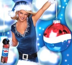 Britney Spears in Christmas Pepsi campaign