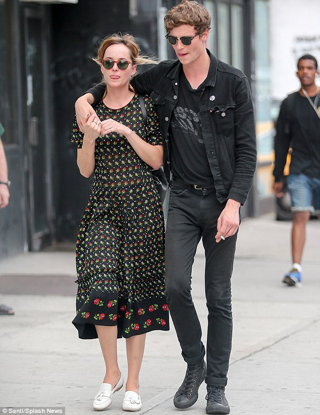 Dakota Johnson and boyfriend
