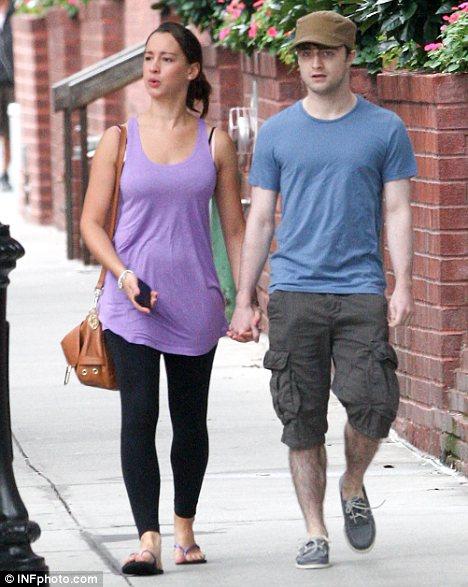 Daniel Radcliffe with girlfriend Roseanne Coker