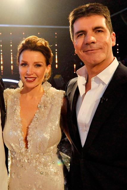 Dannii Minogue and Simon Cowell
