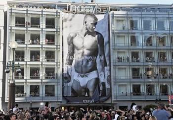 David Beckham in Emporio Armani