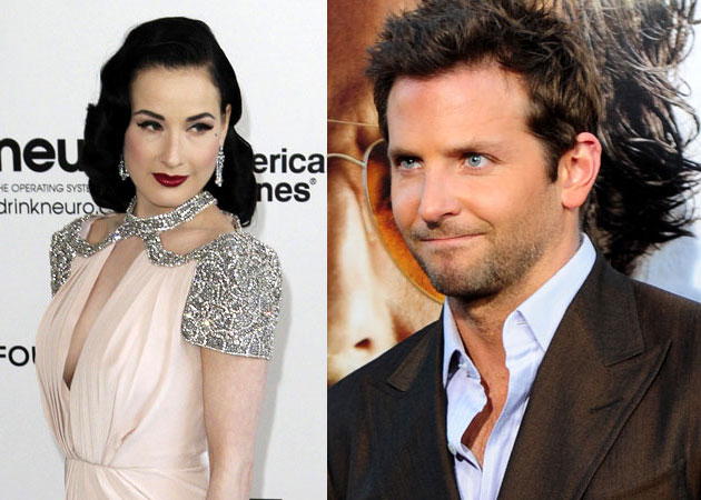 Dita Von Teese and Bradley Cooper
