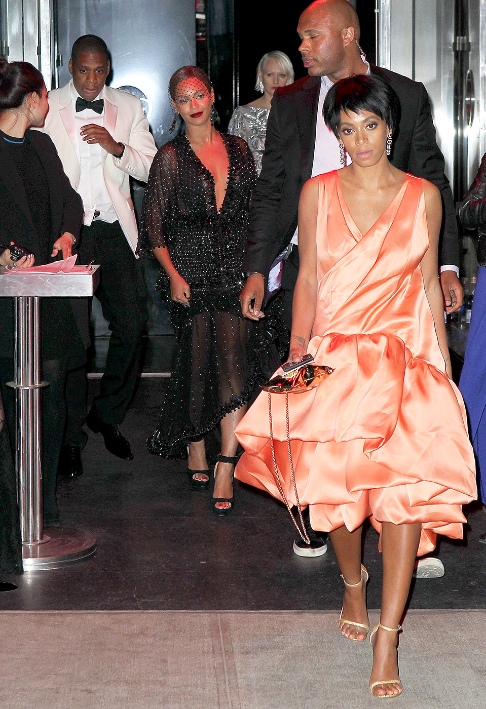 Jay Z and Beyonce with Solange Knowles