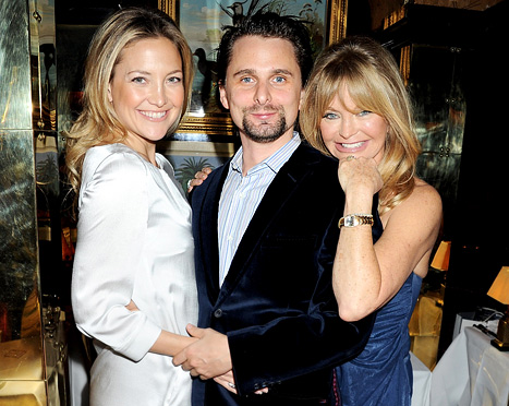 Kate Hudson with Matt Bellamy and Goldie Hawn