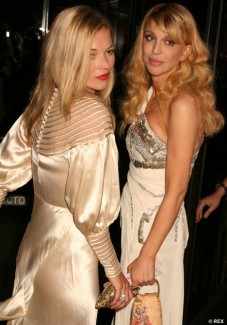 Kate Moss and Courtney Love
