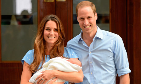 Duchess Kate and Prince William with Prince George