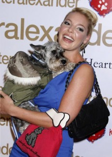 Katherine Heigl and her dog