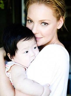 Katherine Heigl with daughter Naleigh