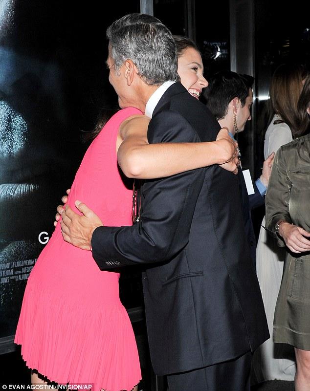 Katie Holmes and George Clooney