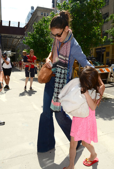 Katie Holmes with her daughter Suri Cruise