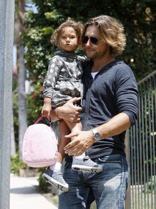 Nahla with her dad Gabriel Aubry