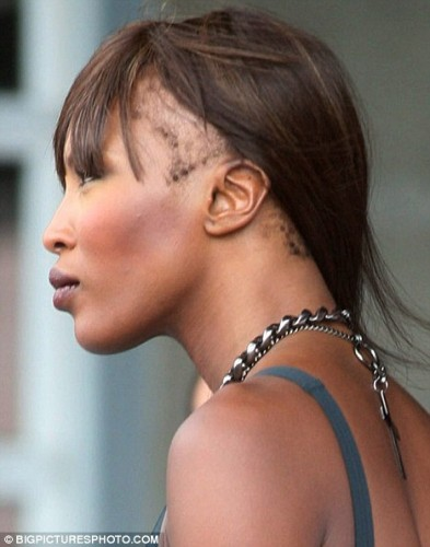 Naomi Campbell hairline
