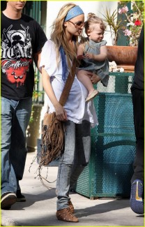 Nicole Richie and her baby