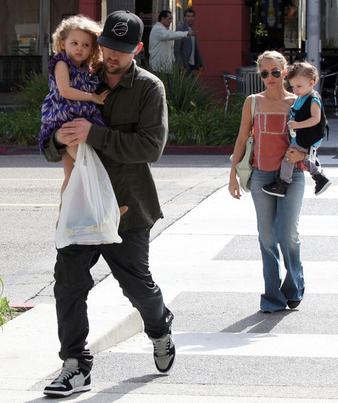 Joel Madden with wife Nicole Richie and kids