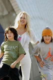 Pam Anderson and her sons
