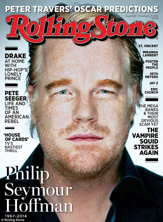 Philip Seymour Hoffman on the cover of 'Rolling Stone'