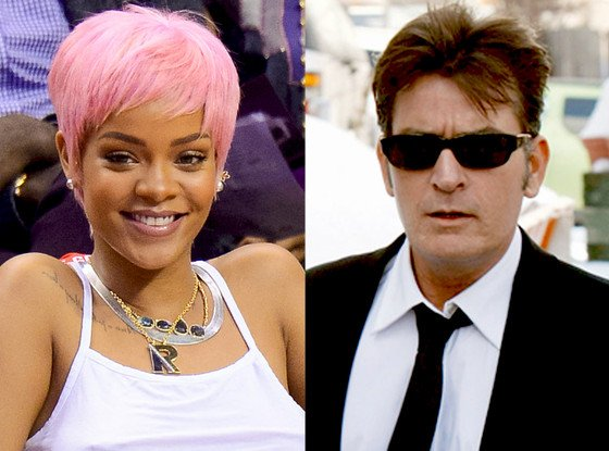 Rihanna and Charlie Sheen