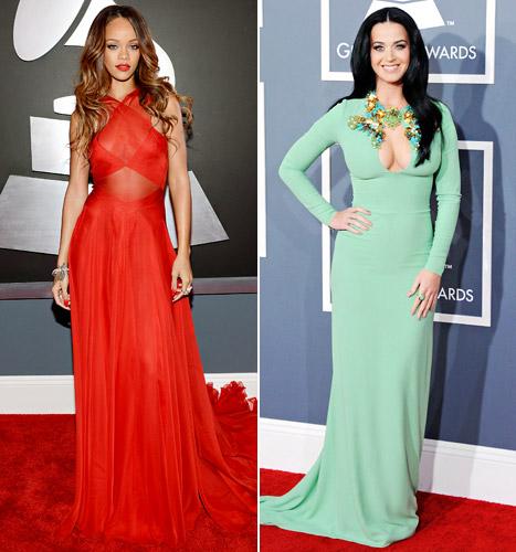 Rihanna and Katy Perry at this year's Grammy Awards