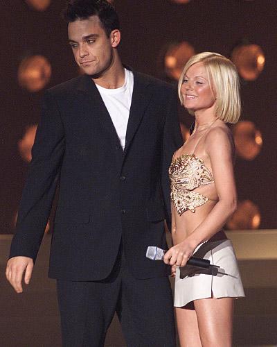 Robbie Williams and Geri Halliwell
