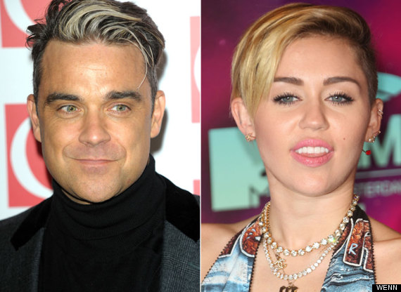 Robbie Williams and Miley Cyrus