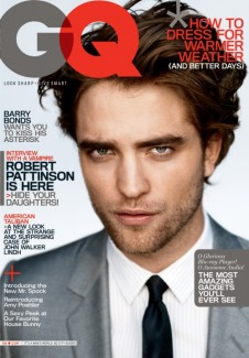Robert Pattinson on the cover of GQ magazine