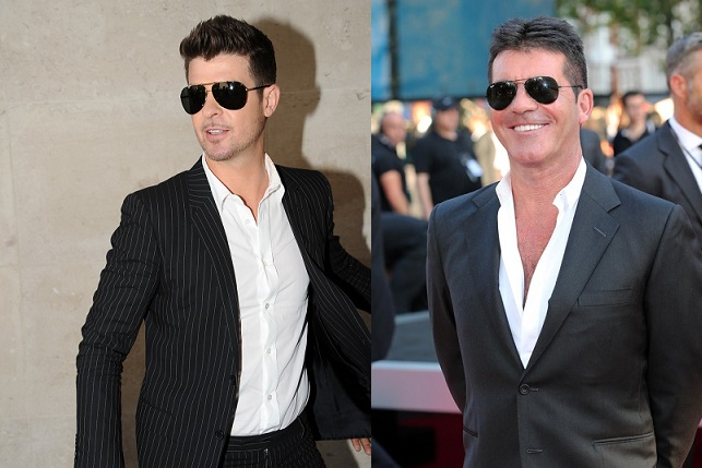 Robin Thicke and Simon Cowell
