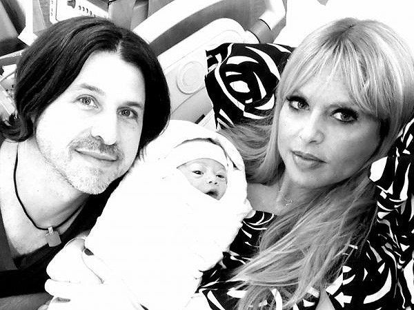 Rodger Berman and Rachel Zoe with baby Kaius