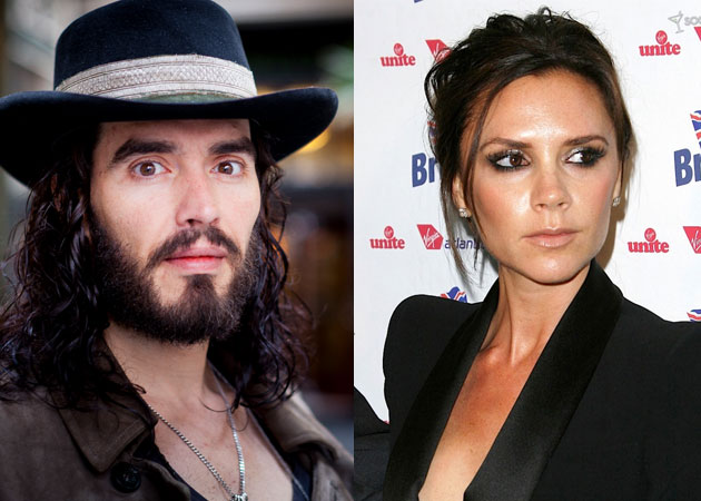 Russell Brand and Victoria Beckham