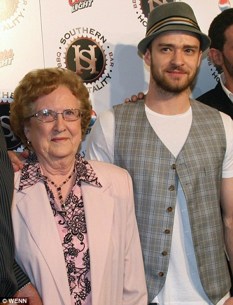 Sadie Bomar and her grandson, Justin Timberlake