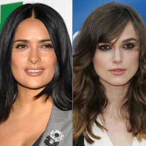 Salma Hayek and Keira Knightley