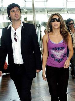 Shakira with boyfriend Antonio de la Rua