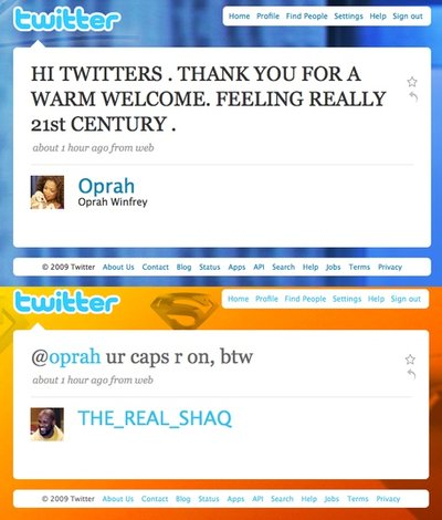 Shaquille O'Neal Oprah Twitter