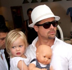 Brad Pitt and Shiloh Jolie-Pitt