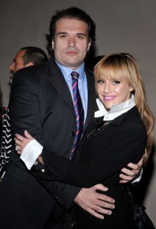 Simon Monjack with wife Brittany Murphy