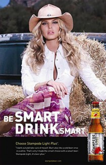 Jessica Simpson in beer ad